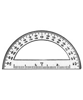 "3 1/2"" Mini Protractor - Pack of 12 ALV-3751"
