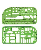 Plastic Double Sketching Template Set ARM-DT-5667