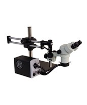 DSZ-44 Stereo Zoom Binocular Microscope on Stand DABS and LED FOI and ring Light AVE-26800B-303
