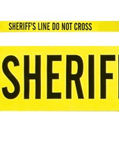 Yellow Sheriff's Line – Do not Cross EVE-4013-
