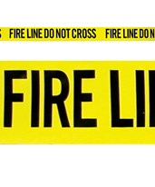 Yellow Fire Line – Do Not Cross EVE-4014-