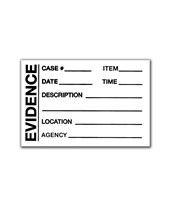 "2"" x 3"" Basic Evidence Label EVE-8030"