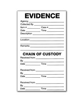 "3½"" x 6"" Evidence Labels EVE-8032"