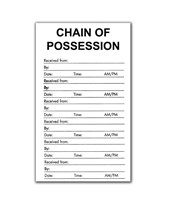 "3½"" X 6"" Chain of Possession Labels - Pack of 100 EVE-8110"