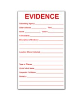 "3½"" x 6"" Victim Evidence Labels - 100 EVE-8120"