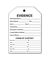 "3½"" X 5"" Combo Evidence Tag/Labels - Pack of 100 EVE-8121"