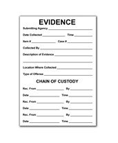 "3½"" X 5"" Evidence/Chain of Custody Labels - Pack of 100 EVE-8122"