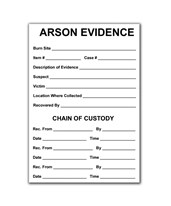 "3½"" x 5"" Arson Evidence Labels - Pack of 100 EVE-8123"