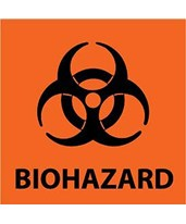 "Biohazard Labels, 7/8"" x 7/8"", For Use with 903 Protein Saver Cards - Pack of 1000 GE-10534150"
