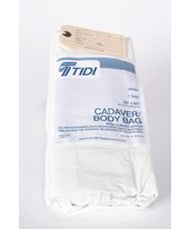 "36"" x 90"" White Vinyl Body Bag - Case of 10 TID-950259-"